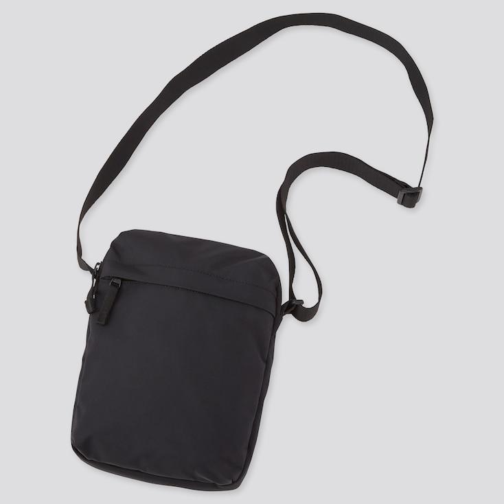 Mini Shoulder Bag, Black, Large