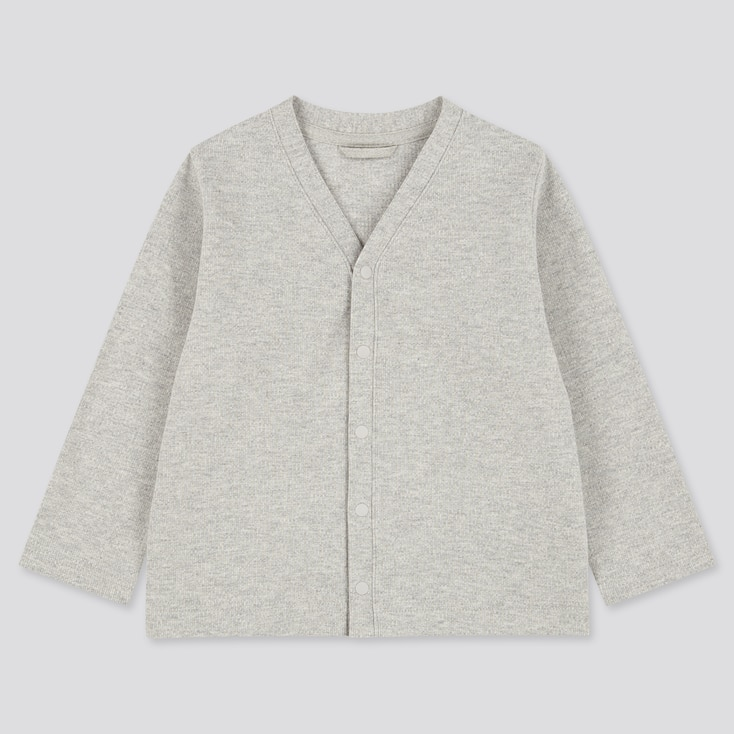Toddler Long-Sleeve Cardigan (Online Exclusive), Gray, Large