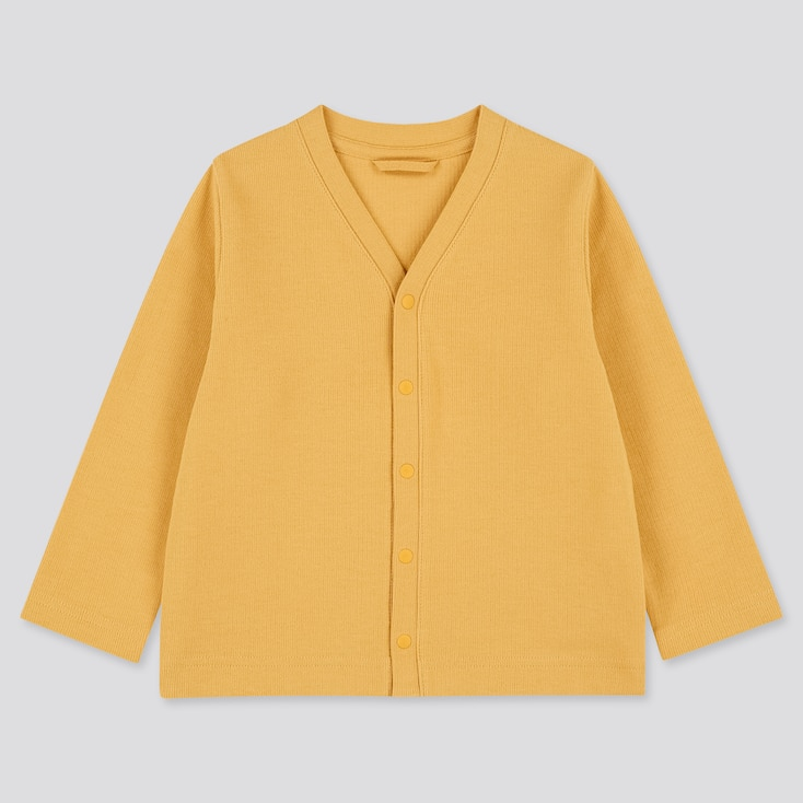 Toddler Long-Sleeve Cardigan (Online Exclusive), Yellow, Large