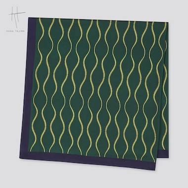 Women Printed Stole (Hana Tajima), Dark Green, Medium