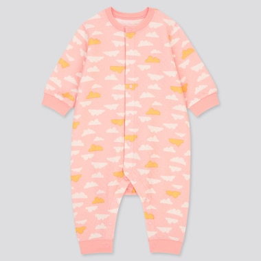 Babies Newborn Cloud Print Long Sleeved Quilted One Piece Outfit