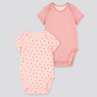 Babies Newborn Joy Of Print Short Sleeved Bodysuit (Two Pack)
