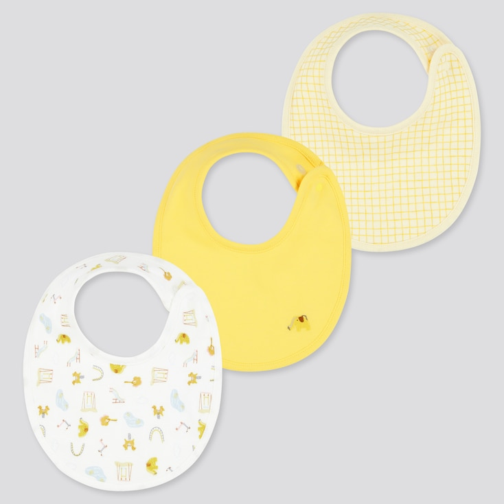 Baby Joy Of Print Bib (Set Of 3) (Online Exclusive), Yellow, Large