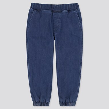 Pantalon Denim Stretch Doublé Polaire Enfant