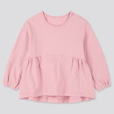 Babies Toddler Crew Neck Long Sleeved T-Shirt