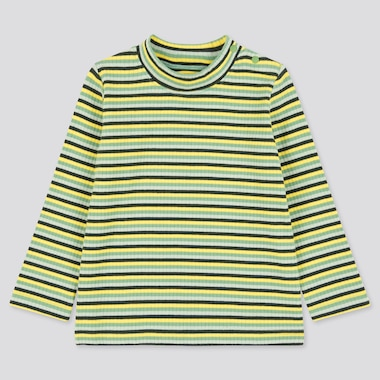 Toddler Ribbed High-Neck Long-Sleeve T-Shirt (Online Exclusive), Green, Medium