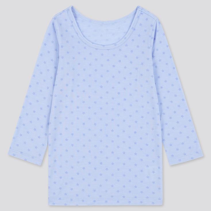 Toddler Heattech Long-Sleeve Scoop Neck T-Shirt, Blue, Large