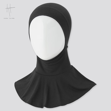 Women Airism Hijab (Hana Tajima), Black, Medium