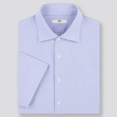 Men DRY Easy Care Comfort Regular Fit Short Sleeved Shirt (Regular Collar)