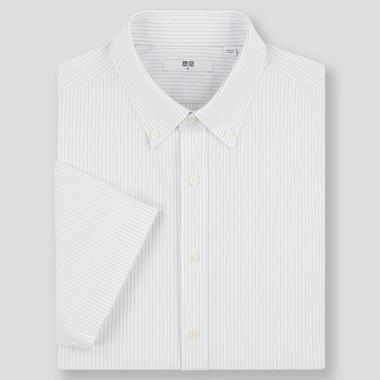 Men Dry Easy Care Comfort Short-Sleeve Shirt (Online Exclusive), Gray, Medium
