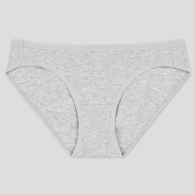 Women Basic Bikini, Gray, Medium