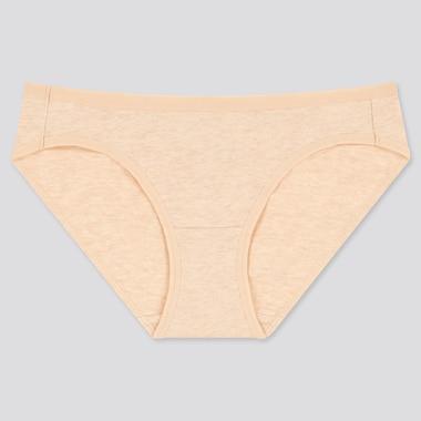 Women Basic Bikini, Beige, Medium
