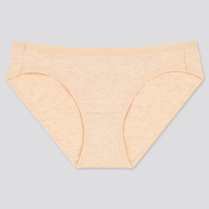 Women Basic Bikini, Beige, Large