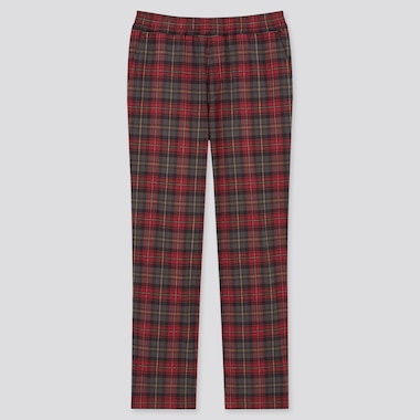 Men Stretch Flannel Easy Pants, Red, Medium