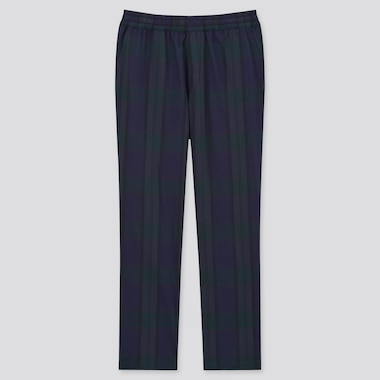 Men Flannel Stretch Easy Trousers