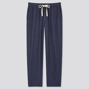 Denim Jersey Relaxed Fit Ankle Length Trousers