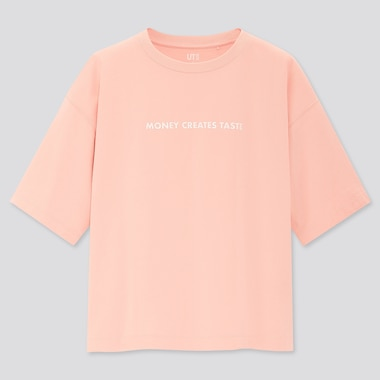 Women Text Messages Ut Jenny Holzer (Short-Sleeve Oversized Graphic T-Shirt) (Online Exclusive), Pink, Medium
