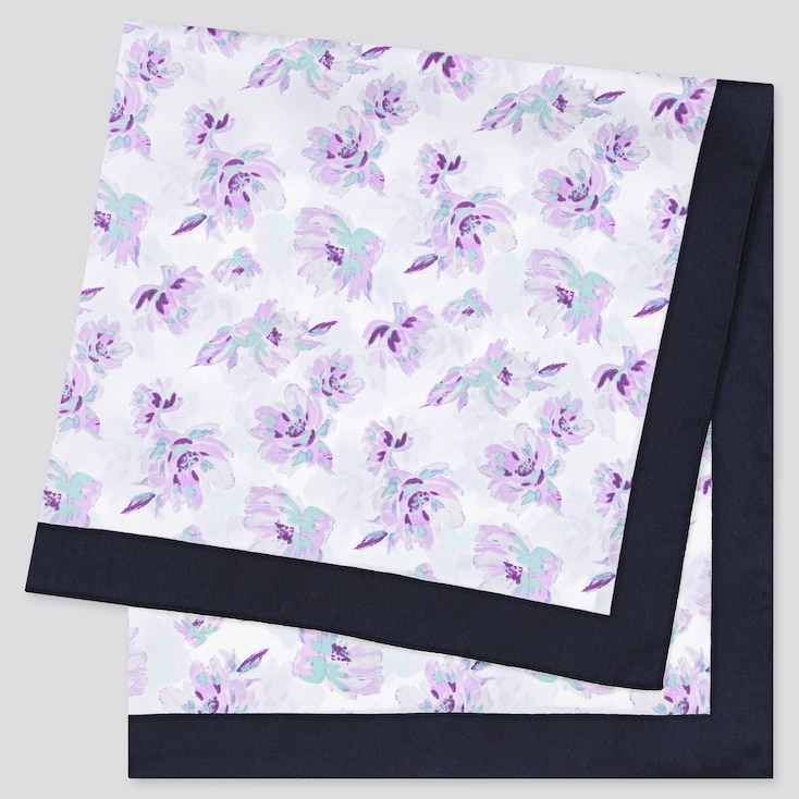 Women Printed Scarf, Off White, Large