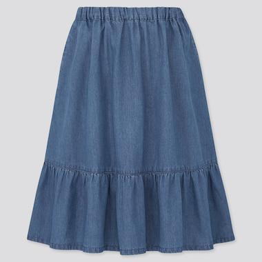 Girls Denim Flared Skirt