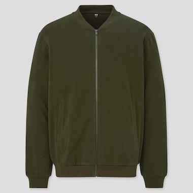 Men Brushed Cotton Zipped Blouson Jacket