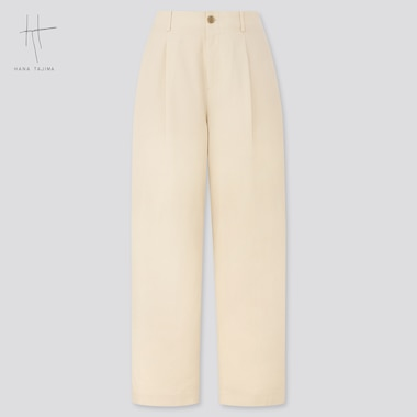Women Seersucker Pants (Hana Tajima), Natural, Medium