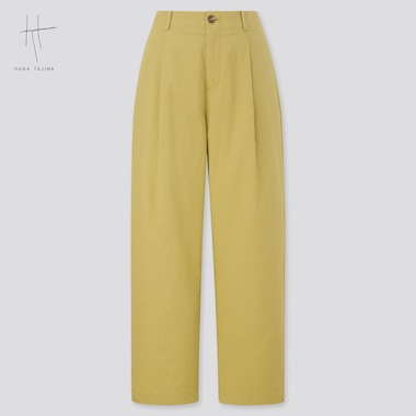 Women Seersucker Pants (Hana Tajima), Green, Medium