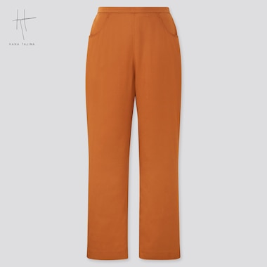 Women Straight Pants (Hana Tajima), Brown, Medium