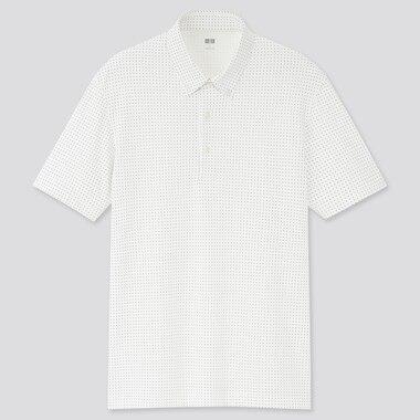 Herren AIRism Piqué-Poloshirt mit Print