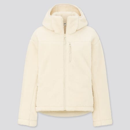 Women Windproof Fluffy Fleece Zipped Hoodie