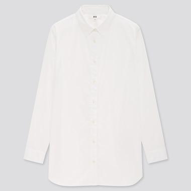 Women Extra Fine Cotton Long-Sleeve Shirt, White, Medium