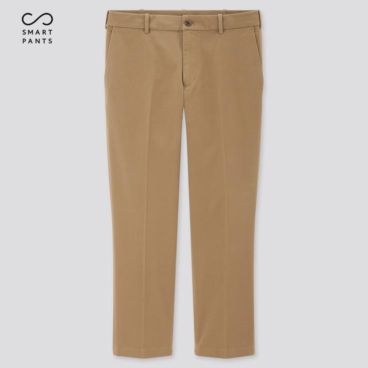 Men Smart 2-Way Stretch Cotton Ankle-Length Pants, Beige, Large