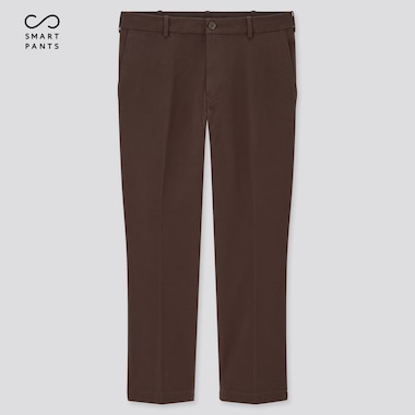 Men Smart Cotton Ankle Length Trousers