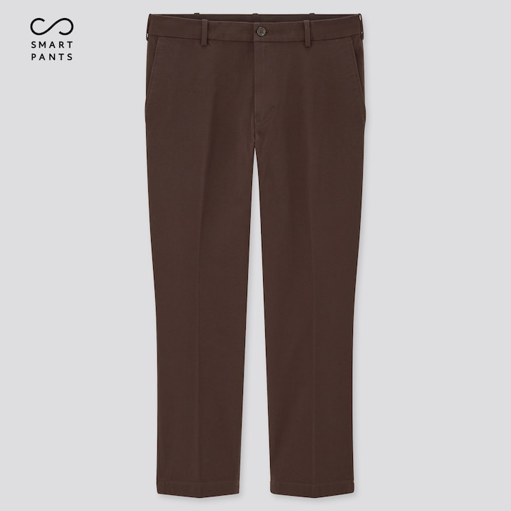 Men Smart 2-Way Stretch Cotton Ankle-Length Pants (Tall) (Online Exclusive), Dark Brown, Large