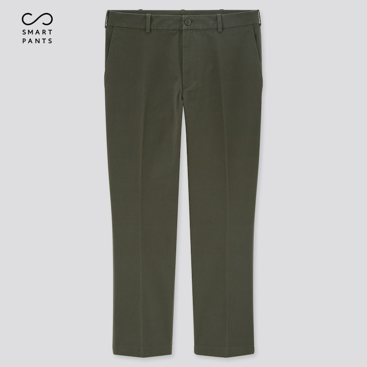 Men Smart 2-Way Stretch Cotton Ankle-Length Pants (Tall) (Online Exclusive), Olive, Large