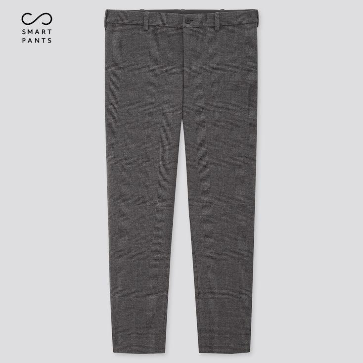 Men Smart 2-Way Stretch Jersey Ankle-Length Pants, Gray, Large