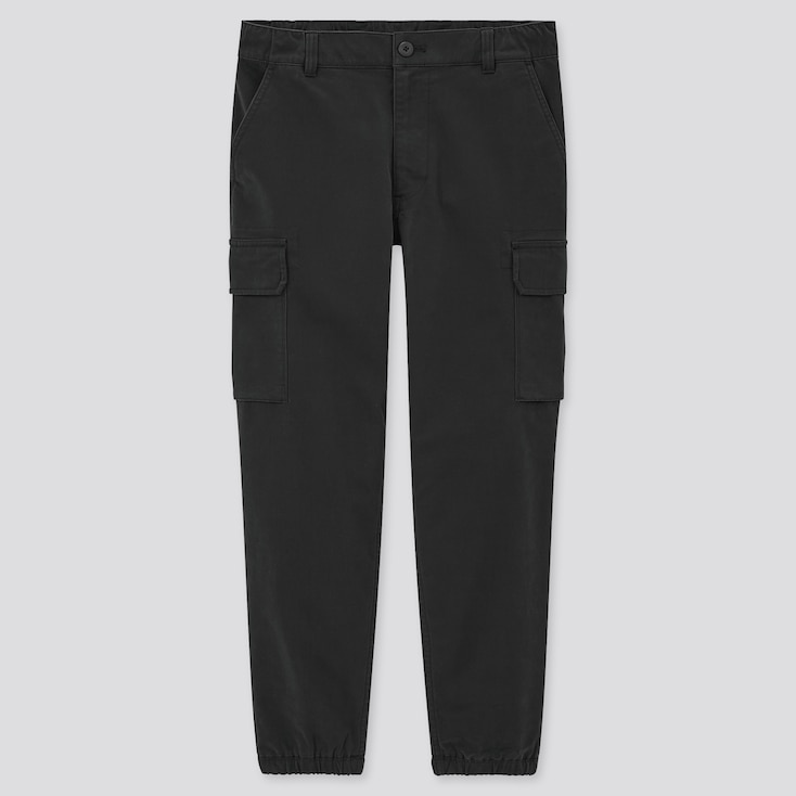 Men Cargo Jogger Pants (Tall), Black, Large