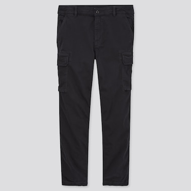 Men Cargo Jogger Pants, Black, Medium