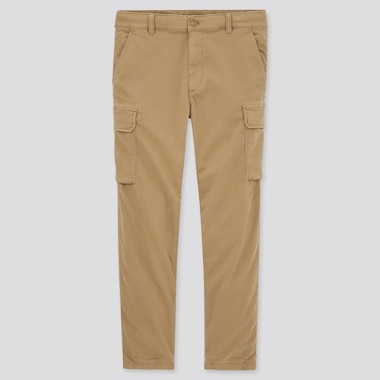 Men Cargo Jogger Pants, Khaki, Medium
