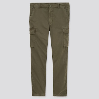 Men Cargo Jogger Pants, Olive, Medium