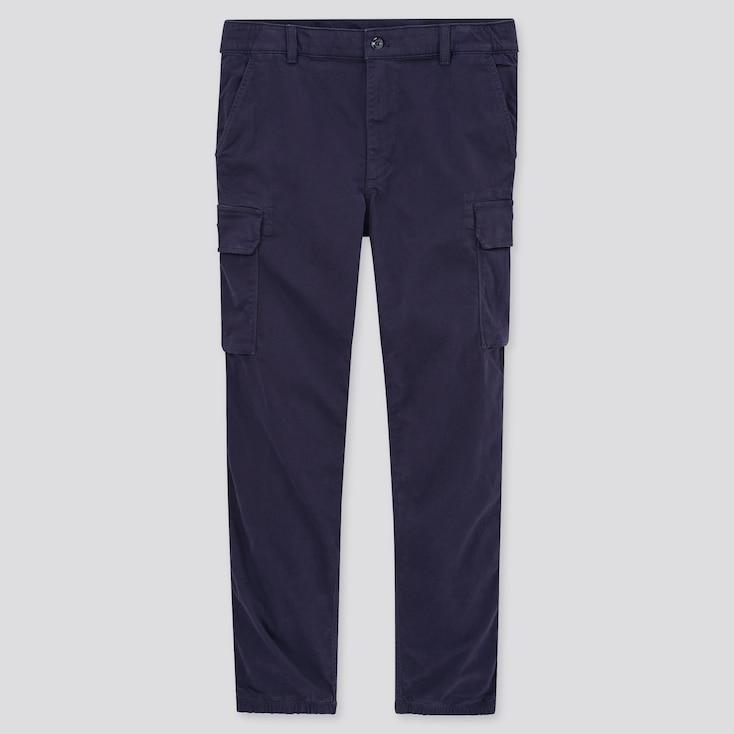Men Cargo Jogger Pants, Navy, Large