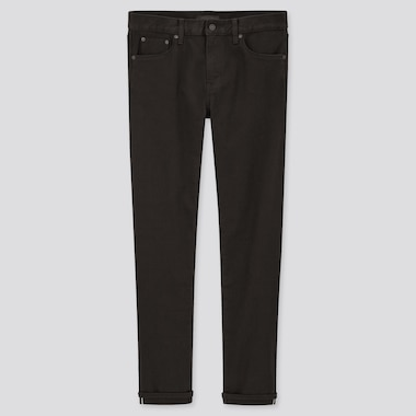 Men Stretch Selvedge Slim-Fit Jeans (Online Exclusive), Black, Medium