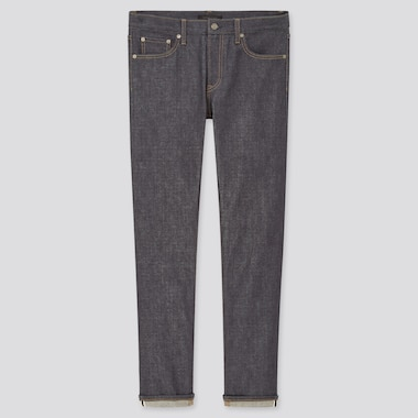 Men Stretch Selvedge Slim-Fit Jeans (Online Exclusive), Navy, Medium