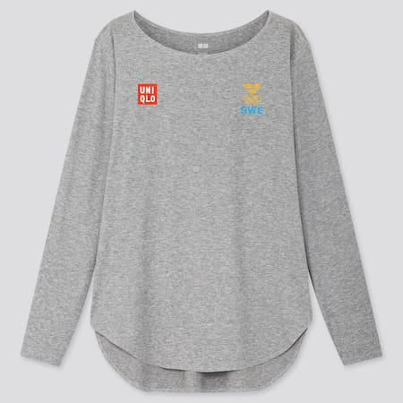 Women Sweden Olympic AIRism Seamless Long Sleeved T-Shirt