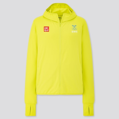 Women Sweden Olympic AIRism UV Protection Mesh Full Zipped Hoodie