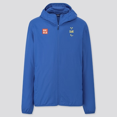 Men Sweden Paralympic Pocketable UV Protection Parka