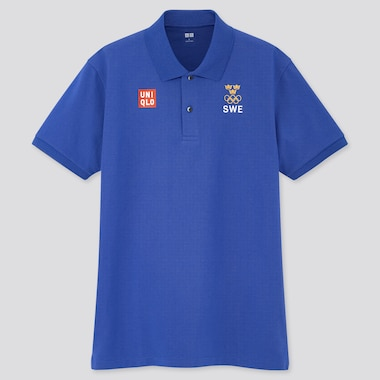 Men Sweden Olympic DRY Piqué Short Sleeved Polo Shirt