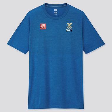 Men Sweden Olympic DRY-EX Crew Neck T-Shirt