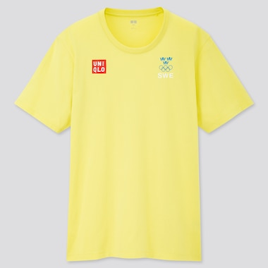 Men Sweden Olympic Supima Cotton Crew Neck Short Sleeved T-Shirt