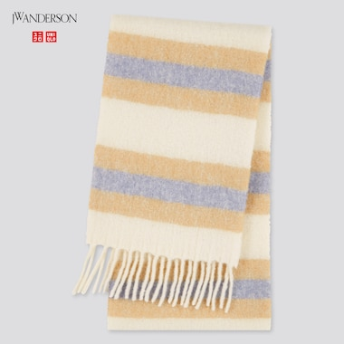 Brushed Wool-Blend Scarf (Jw Anderson), Off White, Medium