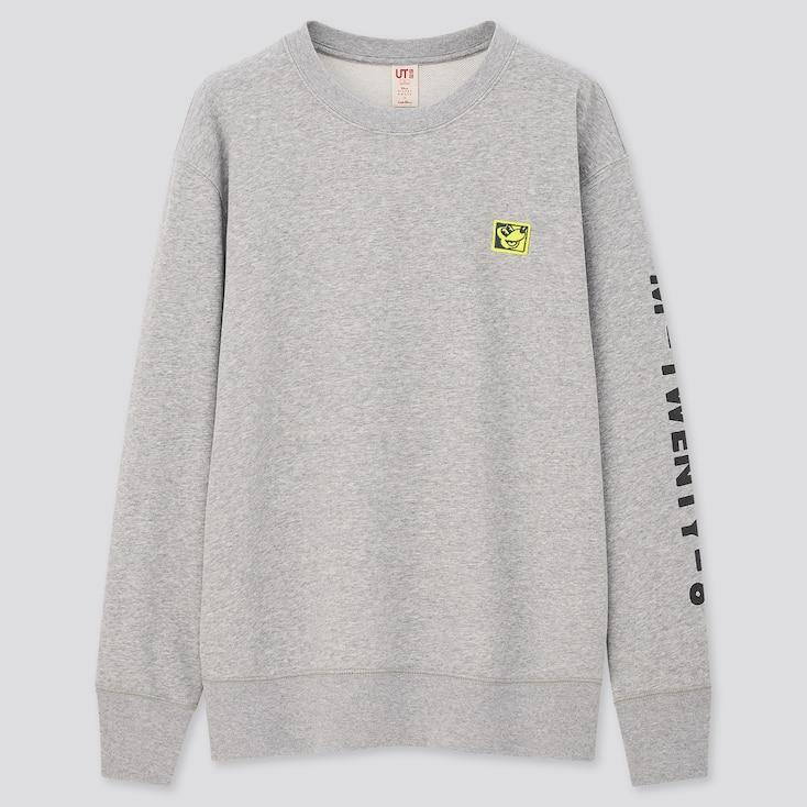 Mickey Mouse X Keith Haring Ut Long-Sleeve Sweatshirt, Gray, Large